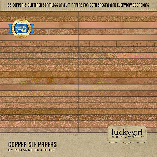 Copper SLF Papers Digital Art - Digital Scrapbooking Kits