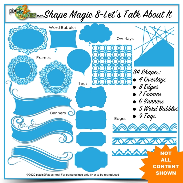 Shape Magic 8 - Let's Talk About It Digital Art - Digital Scrapbooking Kits