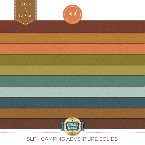 SLF - Camping Adventure Solids Digital Art - Digital Scrapbooking Kits