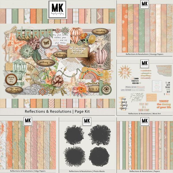 Reflections & Resolutions Bundle Digital Art - Digital Scrapbooking Kits
