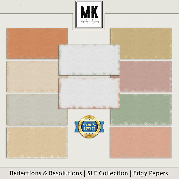 Reflections & Resolutions - SLF Collection - Edgy Papers Digital Art - Digital Scrapbooking Kits