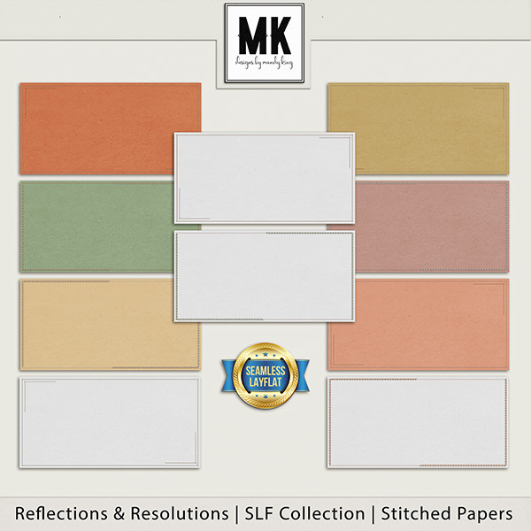 Reflections & Resolutions - SLF Collection - Stitched Papers Digital Art - Digital Scrapbooking Kits