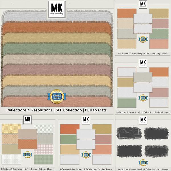 Reflections & Resolutions - SLF Collection - Bundle Digital Art - Digital Scrapbooking Kits