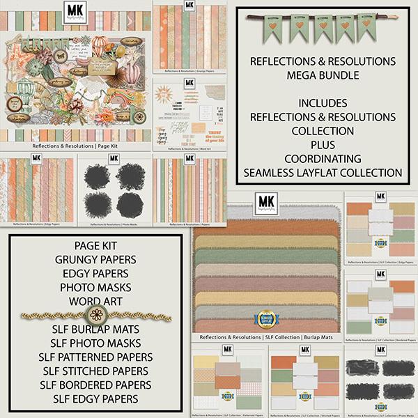 Reflections & Resolutions Mega Bundle Digital Art - Digital Scrapbooking Kits