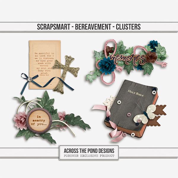 Bereavement Clusters Digital Art - Digital Scrapbooking Kits