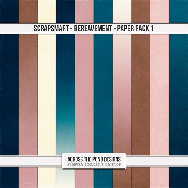 Bereavement Paper Pack 1 Digital Art - Digital Scrapbooking Kits