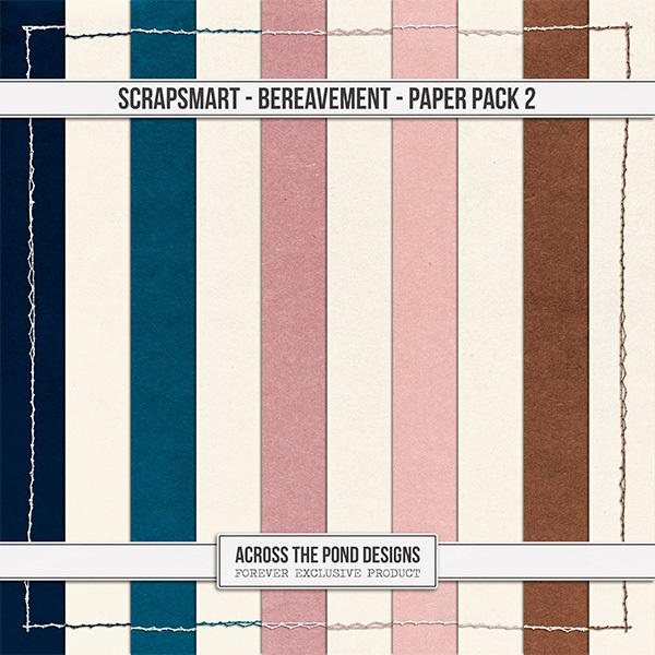 Bereavement Paper Pack 2 Digital Art - Digital Scrapbooking Kits