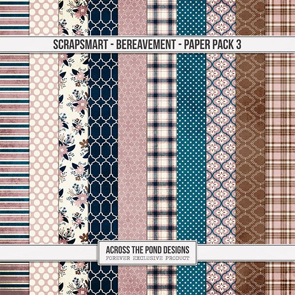 Bereavement Paper Pack 3 Digital Art - Digital Scrapbooking Kits