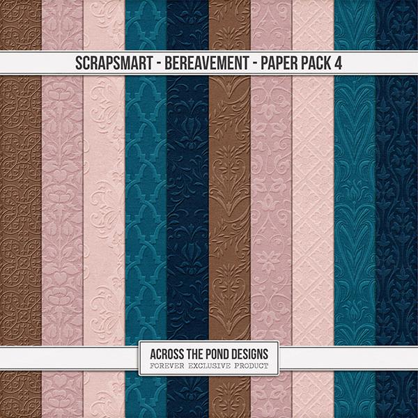 Bereavement Paper Pack 4 Digital Art - Digital Scrapbooking Kits