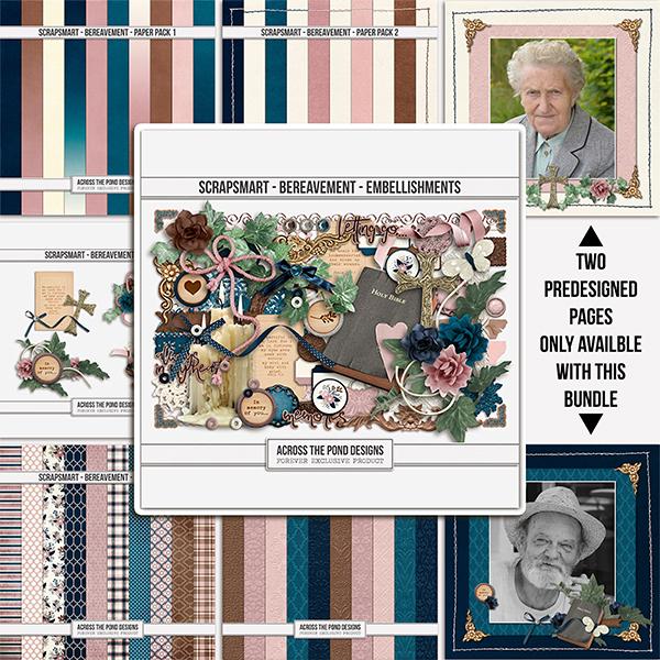 Bereavement Collection Digital Art - Digital Scrapbooking Kits