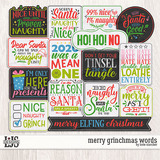 Merry Grinchmas Words