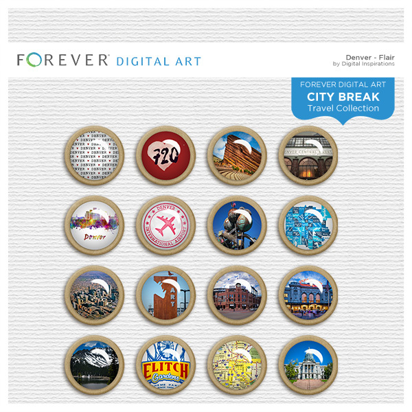 City Break - Denver - Flair Digital Art - Digital Scrapbooking Kits