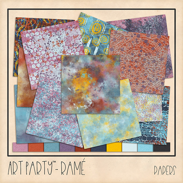Rame Papers Digital Art - Digital Scrapbooking Kits