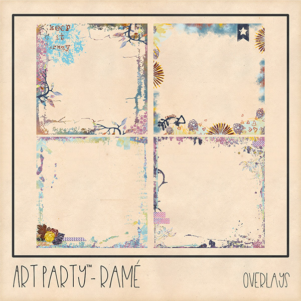 Rame Overlays Digital Art - Digital Scrapbooking Kits