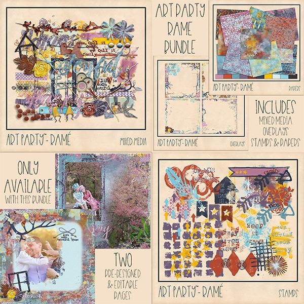 Rame Complete Collection Digital Art - Digital Scrapbooking Kits