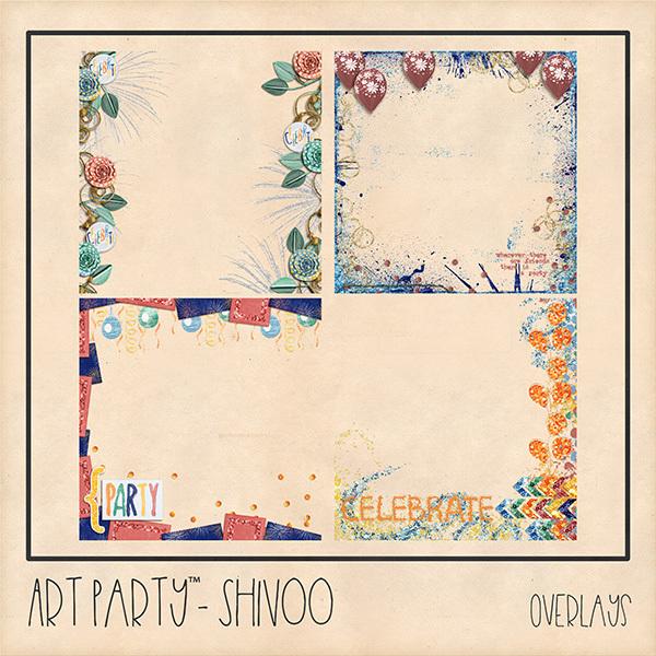 Shivoo Overlays Digital Art - Digital Scrapbooking Kits