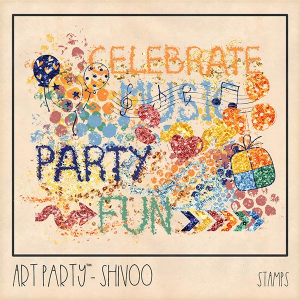 Shivoo Stamps Digital Art - Digital Scrapbooking Kits