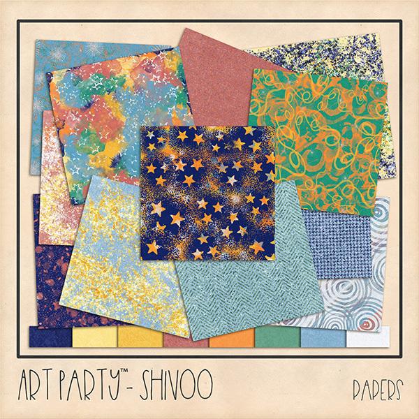 Shivoo Papers Digital Art - Digital Scrapbooking Kits