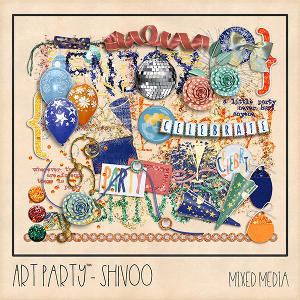 Shivoo Mixed Media Digital Art - Digital Scrapbooking Kits