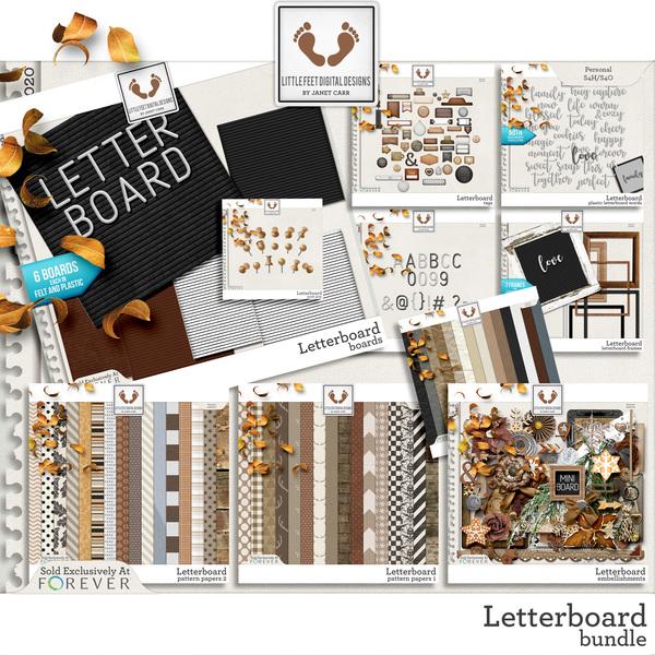 Letterboard Bundle Digital Art - Digital Scrapbooking Kits