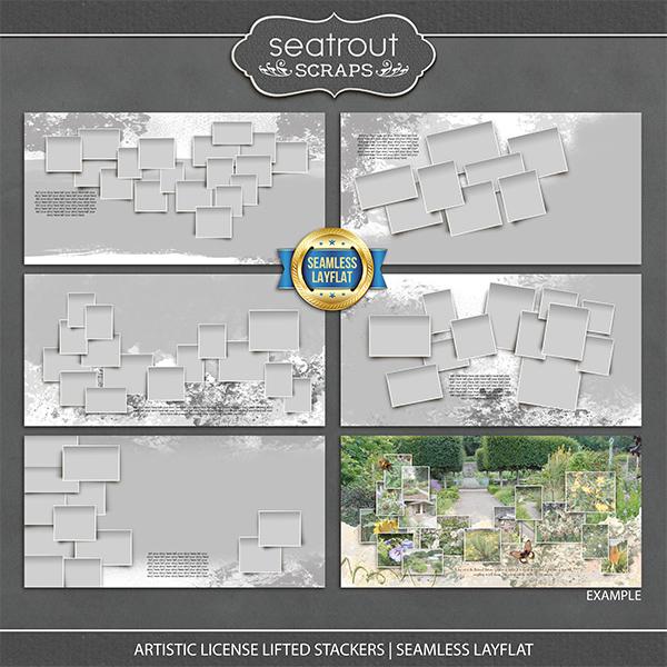 Artistic License Lifted Stackers Seamless Layflat Digital Art - Digital Scrapbooking Kits