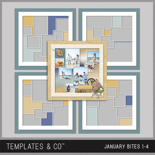 January Bites 1-4 Digital Art - Digital Scrapbooking Kits