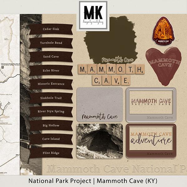 National Park Project Mammoth Cave (KY) Digital Art - Digital Scrapbooking Kits