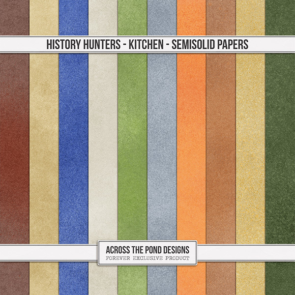History Hunters - Kitchen Semi-Solid Papers
