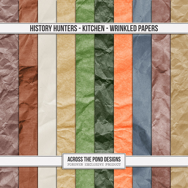 History Hunters - Kitchen Wrinkled Papers