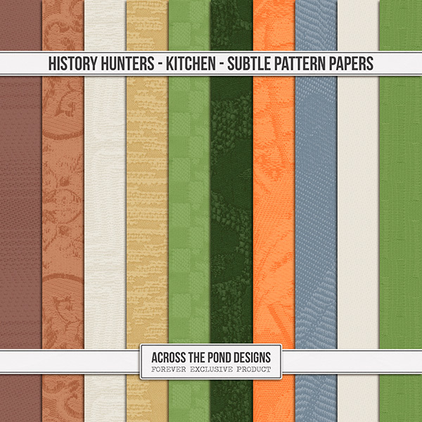 History Hunters - Kitchen Subtle Pattern Papers