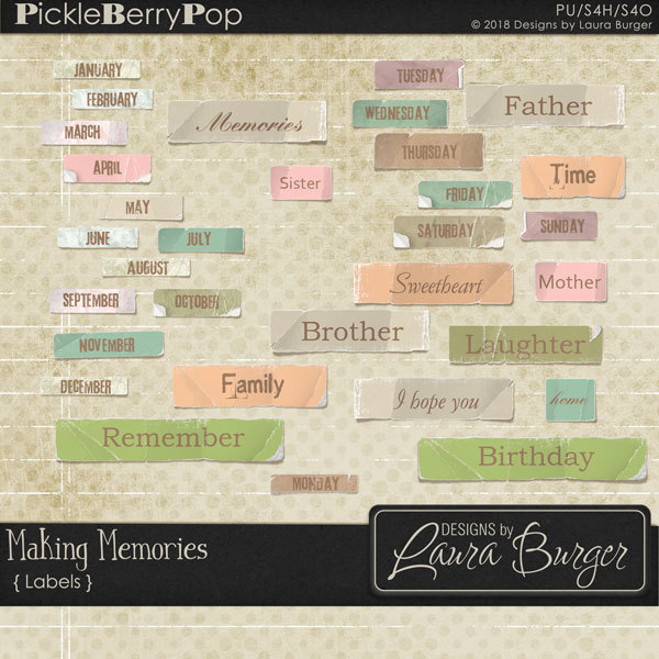 Making Memories Labels Digital Art - Digital Scrapbooking Kits