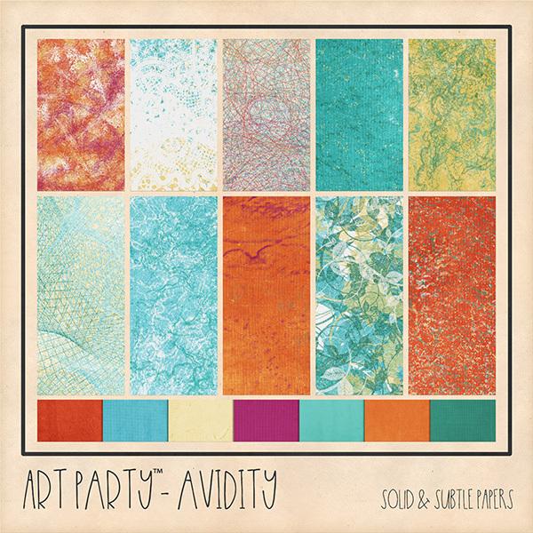 Avidity Solid & Subtle Papers Digital Art - Digital Scrapbooking Kits