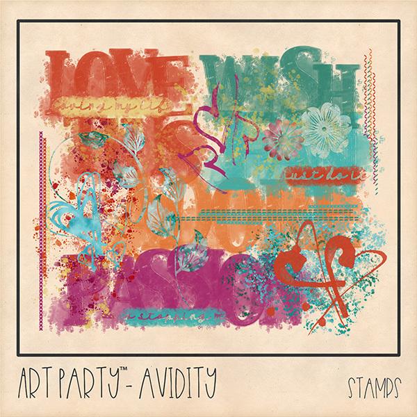 Avidity Stamped Pieces Digital Art - Digital Scrapbooking Kits