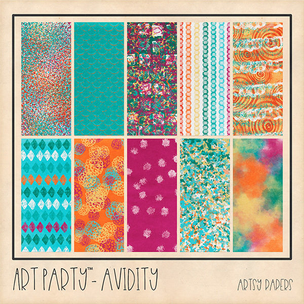 Avidity Artsy Papers Digital Art - Digital Scrapbooking Kits