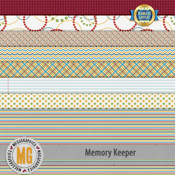 Memory Keeper SLF Papers Digital Art - Digital Scrapbooking Kits