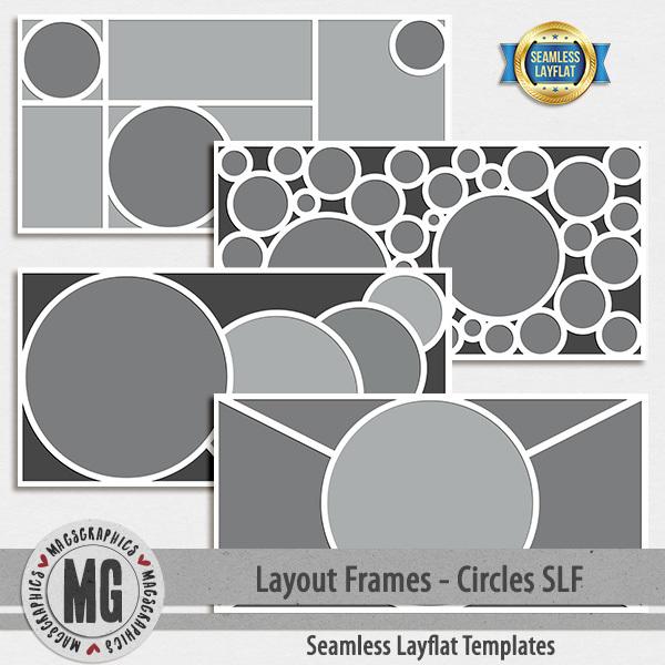 Layout Frames - Circles SLF Digital Art - Digital Scrapbooking Kits