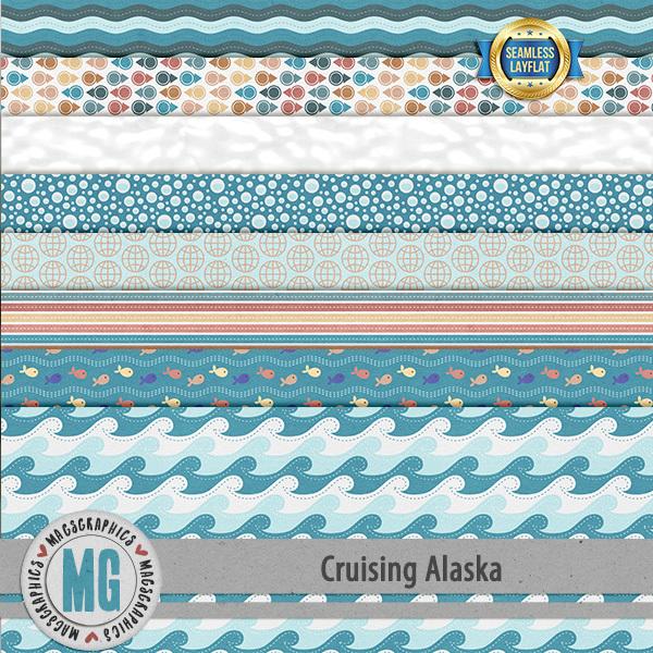 Cruising Alaska SLF Papers Digital Art - Digital Scrapbooking Kits