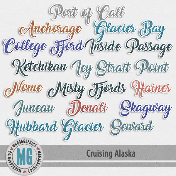 Cruising Alaska Ports of Call Digital Art - Digital Scrapbooking Kits