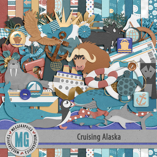 Cruising Alaska Kit Digital Art - Digital Scrapbooking Kits
