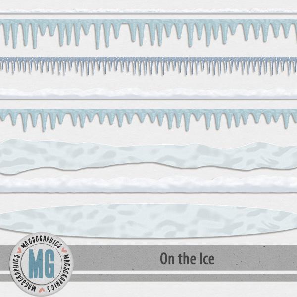 On The Ice Trims Digital Art - Digital Scrapbooking Kits