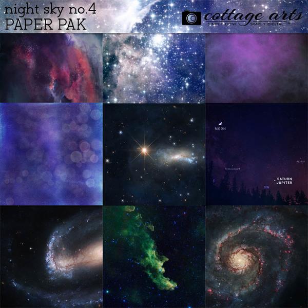 Night Sky Paper Pak 4