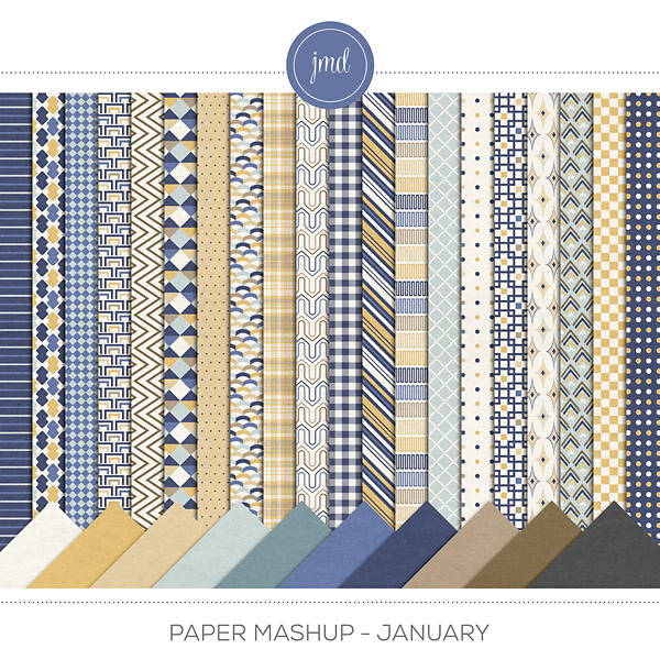 Paper Mashup - January Digital Art - Digital Scrapbooking Kits