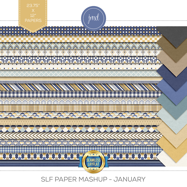 SLF Paper Mashup - January Digital Art - Digital Scrapbooking Kits