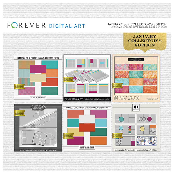 January SLF Collector's Edition Digital Art - Digital Scrapbooking Kits