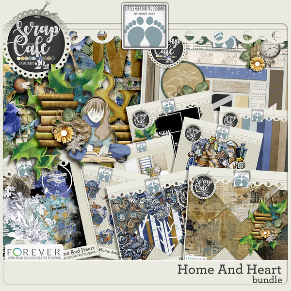 Home And Heart Bundle Digital Art - Digital Scrapbooking Kits