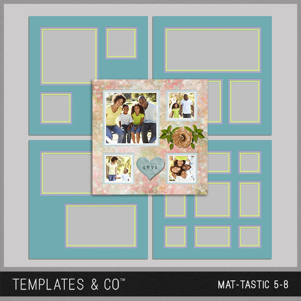 Mat-tastic 5-8 Digital Art - Digital Scrapbooking Kits