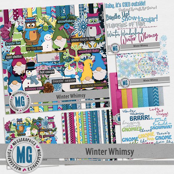 Winter Whimsy Bundle Digital Art - Digital Scrapbooking Kits