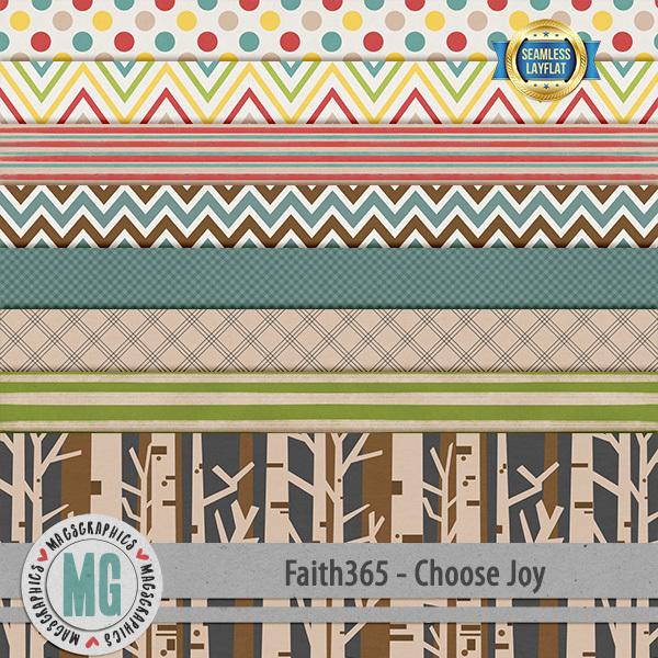 Faith365 Choose Joy SLF Papers Digital Art - Digital Scrapbooking Kits