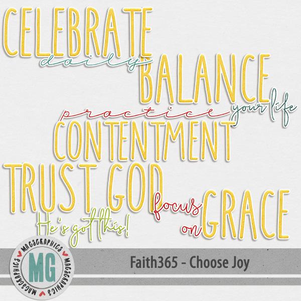 Faith365 Choose Joy Word Art Digital Art - Digital Scrapbooking Kits