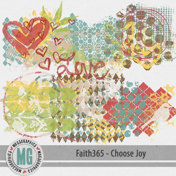 Faith365 Choose Joy Hodge Podge Digital Art - Digital Scrapbooking Kits